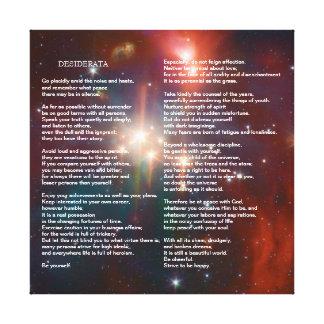 Desiderata on Coronet Galaxy Canvas Print