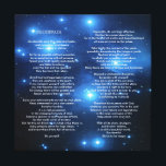 "Desiderata on Pleiades Galaxy Canvas Print<br><div class=""desc"">Go placidly amid the noise and haste, and remember what peace there may be in silence. As far as possible without surrender be on good terms with all persons. Speak your truth quietly and clearly; and listen to others, even the dull and the ignorant; they too have their story. Desiderata...</div>"