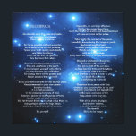 """Desiderata on Pleiades Galaxy Canvas Print<br><div class=""""desc"""">Go placidly amid the noise and haste, and remember what peace there may be in silence. As far as possible without surrender be on good terms with all persons. Speak your truth quietly and clearly; and listen to others, even the dull and the ignorant; they too have their story. Desiderata...</div>"""