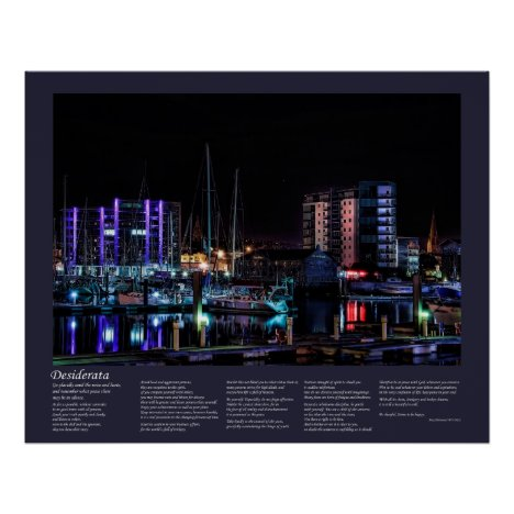 Desiderata - Plymouth Barbican View by Night Poster
