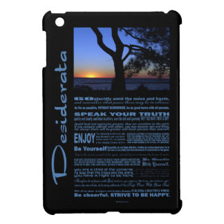 Desiderata Poem Beautiful Sunset Tree #1 iPad Mini Cover