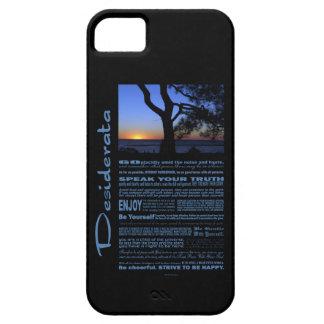 Desiderata Poem Beautiful Sunset Tree #1 iPhone SE/5/5s Case