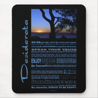 Desiderata Poem Beautiful Sunset Tree #1 Mouse Pad