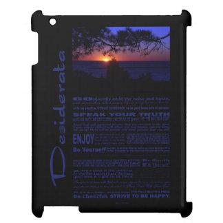 Desiderata Poem Beautiful Sunset Tree #2 iPad Case