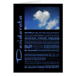 Desiderata Poem Big Heart On The Sky Card