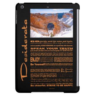 Desiderata Poem Bryce Canyon Arche iPad Air Covers