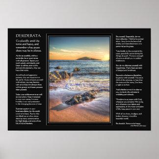 Desiderata poem - Burgh Island from Bantham Posters
