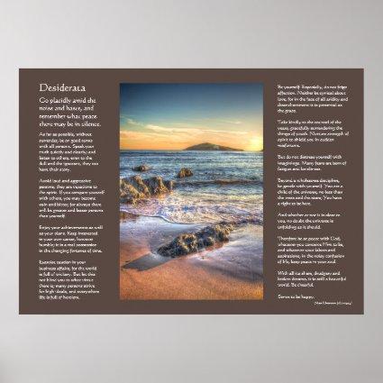 Desiderata poem - Burgh Island from Bantham Print