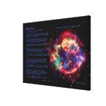 Desiderata Poem, Cassiopeia, Milky Way Supernova Canvas Print