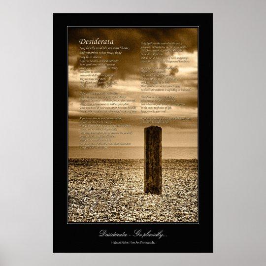 Desiderata Poem coastal scene gallery-style Poster