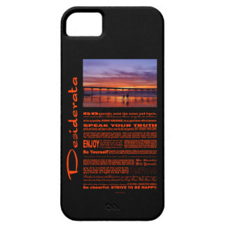 Desiderata Poem Colorful Sunset Behind The Pier iPhone SE/5/5s Case