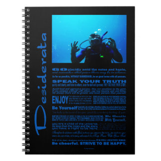 Desiderata Poem Daring Scuba Diver Notebooks