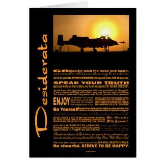 Desiderata Poem Desiderata A-10 Thunderbolt Card