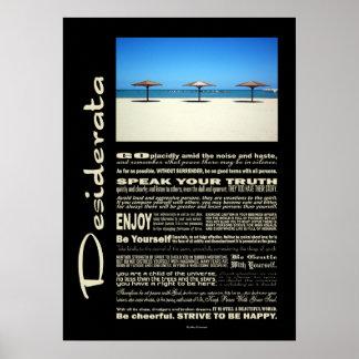 Desiderata Poem Dream It Live It Beach Posters