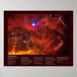 Desiderata Poem - Emission Nebula in Puppis Poster