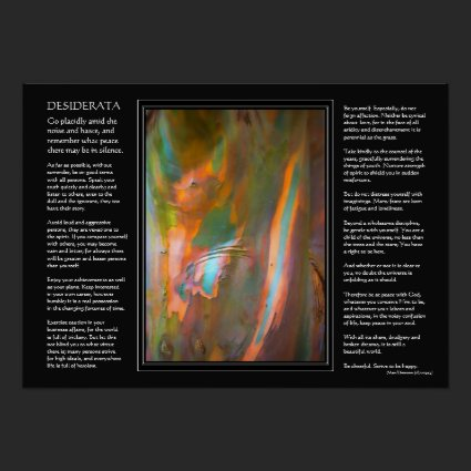 Desiderata poem - Eucalyptus Tree Bark Posters