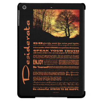 Desiderata Poem Evening Sunset Tree Cover For iPad Air