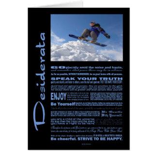 Desiderata Poem Extreme Skier Card