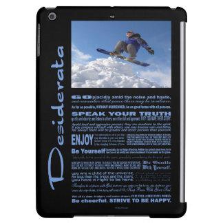 Desiderata Poem Extreme Skier iPad Air Cases