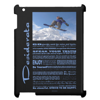 Desiderata Poem Extreme Skier iPad Case