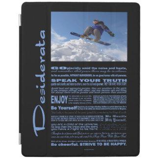 Desiderata Poem Extreme Skier iPad Smart Cover