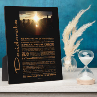 Desiderata Poem Girlfriends Watching The Sunset Plaque
