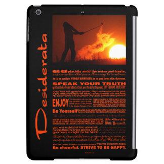 Desiderata Poem Golfing At Sunset iPad Air Case