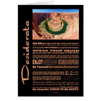 Desiderata Poem Grand Canyon Horse Shoe Bend Card