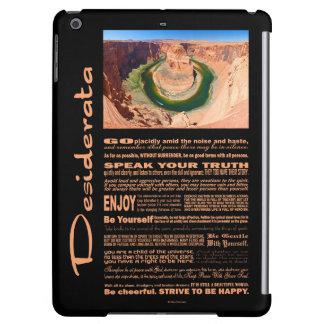 Desiderata Poem Grand Canyon Horse Shoe Bend iPad Air Covers