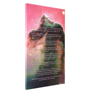 Desiderata Poem - Horsehead Nebula Canvas Print