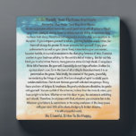 "Desiderata Poem in Blue Thunder On The Beach Plaque<br><div class=""desc"">The Desiderata Poem was written by Max Ehrmann. It is an Inspirational Message to share with Friends &amp; Family in these troubling times. Be sure to visit my Zazzle Shop to see all the rest of My DESIDERATA designs. I have the largest selection in the world. Even if You don&#39;t...</div>"