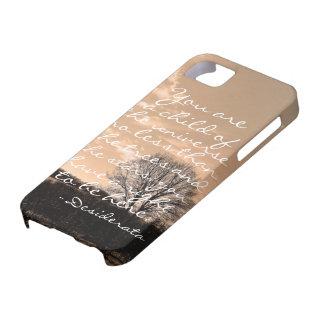 Desiderata poem inspirational saying quote nature iPhone SE/5/5s case