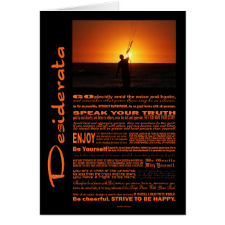 Desiderata Poem Kite Surfer Card