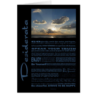 Desiderata Poem Marching Clouds Over The Sea Card