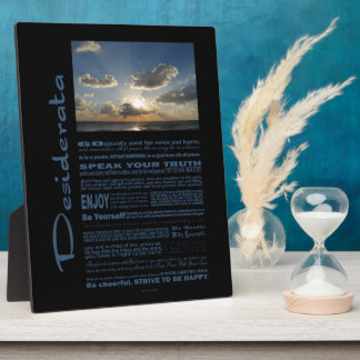 Desiderata Poem Marching Clouds Over The Sea Plaque