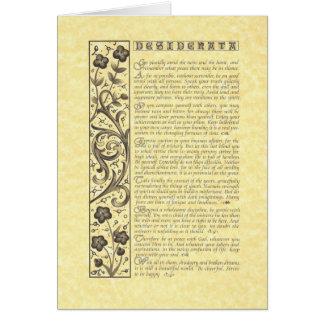 DESIDERATA Poem=Max Ehrmann=Parchment Collection Card