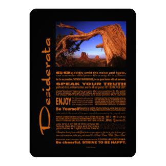 Desiderata Poem Monument Valley #1 5x7 Paper Invitation Card