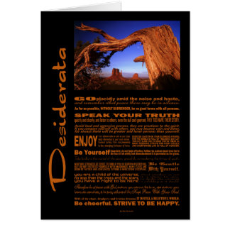 Desiderata Poem Monument Valley #1 Card