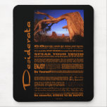 Desiderata Poem Monument Valley #1 Mouse Pad