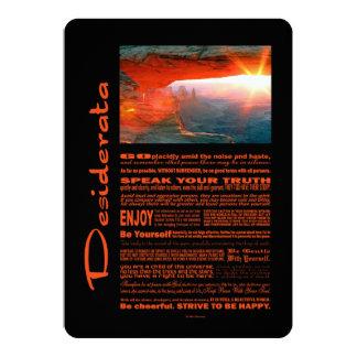 Desiderata Poem Monument Valley Amazing Sunrise 5x7 Paper Invitation Card