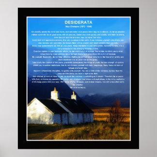 Desiderata poem moorland cottage posters