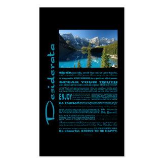 Desiderata Poem Moraine Lake Business Card