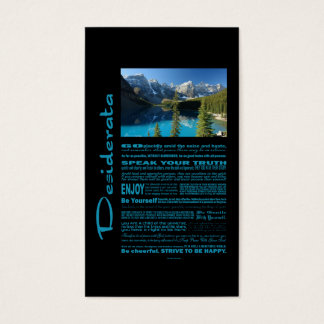 Desiderata Poem Moraine Lake Business Card