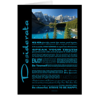 Desiderata Poem Moraine Lake Card