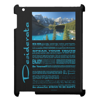 Desiderata Poem Moraine Lake Cover For The iPad 2 3 4