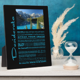Desiderata Poem Moraine Lake Plaque