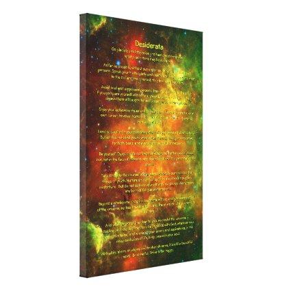 Desiderata Poem - North American, Pelican Nebulae Canvas Prints