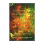 Desiderata Poem - North American, Pelican Nebulae Canvas Print