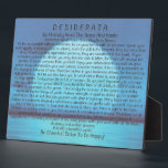 """Desiderata Poem on Blue Sunset Plaque<br><div class=""""desc"""">The Desiderata Poem was written by Max Ehrmann. It is an Inspirational Message to share with Friends &amp; Family in these troubling times.</div>"""