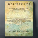 "Desiderata Poem on Watercolor Forest Plaque<br><div class=""desc"">Inspirational Desiderata Poem by Max Ehrmann</div>"